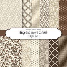 Damask digital paper damask scrapbook paper by ValerianeDigital  https://www.etsy.com/listing/110110252/damask-digital-paper-damask-scrapbook?ref=shop_home_active_3