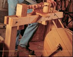 Roy Underhill Lathe | Come visit me at WoodChux and see my work, get free woodworking plans ...