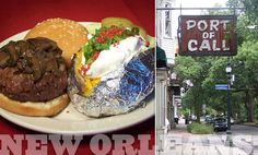 Port of Call, New Orleans, LA - best burger and baked potato I've ever had!