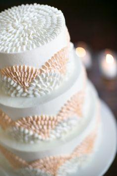A fun, modern cake with peach touches! {Petula Pea Photography}
