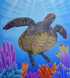 """""""Tortuga Tropicana"""" 36x38"""