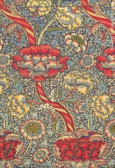 William Morris designed spectacular wallpapers & fabrics with natural themes - indicative of the Arts & Crafts Era