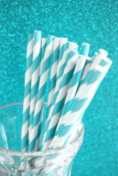 teal wedding details, teal striped straws, KEEPING it classy Shades Of Turquoise, Bleu Turquoise, Teal Blue, Shades Of Blue, 50 Shades, Pink, Tiffany Blue, Azul Tiffany, Pantone Turquoise