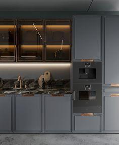 New kitchen modern light doors ideas - Modern Kitchen Kitchen Decor Themes, Home Decor Kitchen, New Kitchen, Kitchen Ideas, Kitchen Country, Kitchen Trends, Room Decor, Küchen Design, Home Design