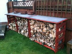 best way to store firewood pallet - Google Search