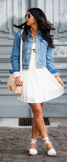 Little White Dress Casual Style