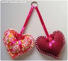 corações de tecido - Pesquisa do Google