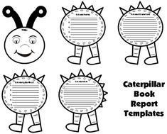 Caterpillar Book Report Project Templates Spring Teaching Resources