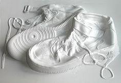 Deep drawing of Nike high-top sneakers by Philip Wiegard