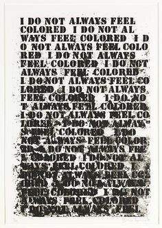 Featured Artwork of the Day: Glenn Ligon (American, born 1960) | Untitled: Four Etchings | 1992 http://met.org/11zLcoU