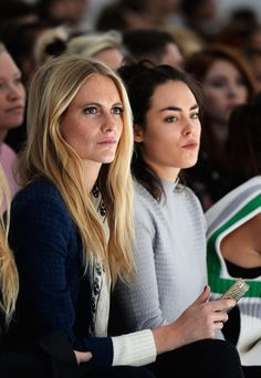 Poppy Delevingne & Talulah - LFW: Front Row at Simone Rocha. Fashion is a serious business! 17 Sep 2013