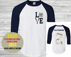 Hey, I found this really awesome Etsy listing at https://www.etsy.com/listing/252458222/baseball-tee-custom-name-and-number