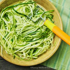 Zucchini Noodles - healthy alternative to pasta, tasty and very fun to make, which is the best part about these in my opinion :)