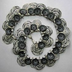 Steve Ford and David Forlano, Artists, Black and White Shell Necklace, 1997,
