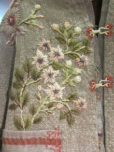 ♒ Enchanting Embroidery ♒ embroidered coat detail, Segolaine