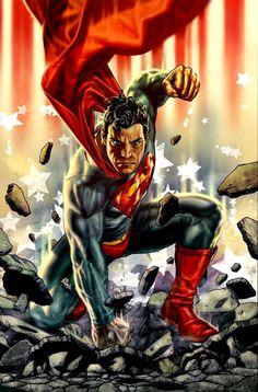 Superman by Lee Bermejo #LeeBermejo #Superman #ClarkKent #KalEl #JusticeLeague #JL #Krypton #ManofSteel #DailyPlanet #Smallville #Metropolis