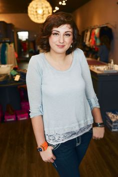 Super-soft baby blue top - $33 To order:  call 317-889-1150 or email jen@jendaisy.com