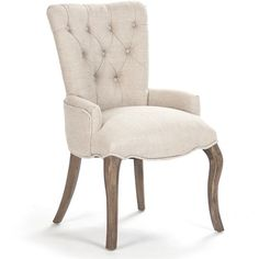 Iris Tufted Chair ($738) ❤ liked on Polyvore