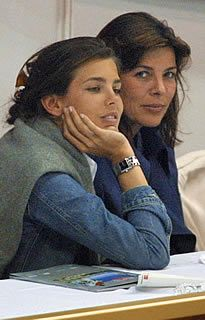 Caroline and Charlotte of Monaco, daughter and granddaughter of Grace Kelly.                                                                                                                                                     More