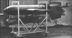 Henschel Hs 293 was a World War II German anti-ship guided missile: a radio-controlled glide bomb with a rocket engine slung underneath it. It was designed by Herbert A. Luftwaffe, Rocket Engine, Heavy And Light, Ww2 Pictures, History Online, Thing 1, Gears Of War, Aircraft Design, Ww2 Aircraft
