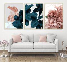 Leaf Wall Art, Floral Wall Art, Home Wall Art, Wall Art Decor, Canvas Wall Art, Wall Art Prints, Canvas Canvas, Canvas Prints, Deco Boheme