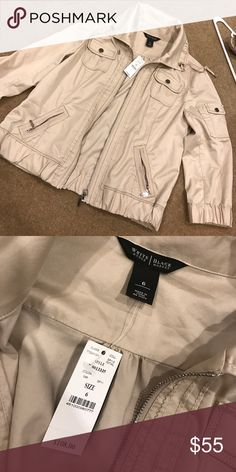 Tan jacket from White House Black Market Tan jacket new with tags! Jackets & Coats