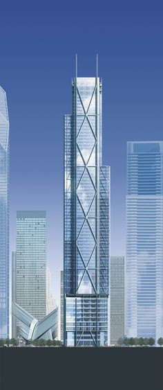 3 World Trade Center or 3WTC. Designed by Rogers Stirk Harbour + Partners (RSHP) / New York City, NY, USA