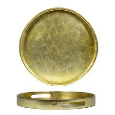 circular gold metallic decor tray - Google Search