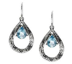 Or Paz Sterling Gemstone Hammered Teardrop Earrings - QVC.com