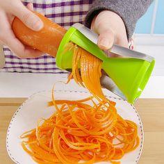 Espiral vegetal slicer cenoura pepino abobrinha macarrão peça ralador julienne cortador peeler cozinha ferramenta de cozimento ZH01021 em Raladores de Home & Garden no AliExpress.com   Alibaba Group