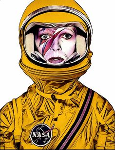 View Spaceman by Slasky. Browse more art for sale at great prices. New art added daily. Buy original art direct from international artists. Shop now Prints For Sale, Art For Sale, Original Art, Original Paintings, Save Rock And Roll, International Artist, Portrait Art, Portraits, Traditional Art
