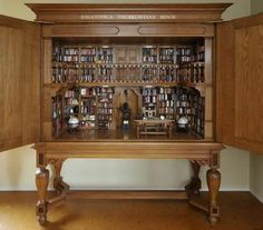 The Bibliotheca Thurkowiana Minor, a  miniature library founded by Guus and Luce Thurkow. The library contains 1515 books and miniatures. Wow!!