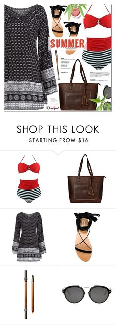 """""""Rosegal 83"""" by anyasdesigns ❤ liked on Polyvore featuring Valentino, Clarins, Christian Dior and Clinique"""