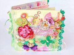 Canvas album by Larissa Albernaz for Prima using Firefly collection Pinterest Cards, Book Journal, Art Journals, Altered Book Art, Handmade Books, Mini Books, Mixed Media Art, Diy Art, Mini Albums