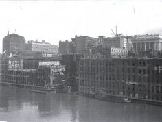 Chicago skyline looking from north side of River 1907