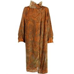 1920's Gallenga Stenciled Velvet Coat | From a collection of rare vintage coats and outerwear at https://www.1stdibs.com/fashion/clothing/coats-outerwear/
