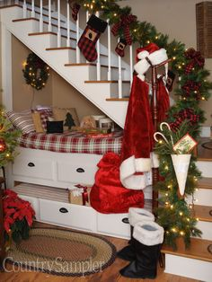 use red and black plaid to punctuate your country christmas decorating with lodge style