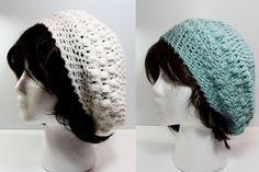 Pretty Puffs Slouchy Hat:  Free Crochet Pattern link: http://craftypants.wordpress.com/2007/09/13/pretty-puffs-slouchy-hat-with-pattern/