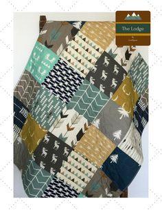 Modern Baby Quilt Woodland Crib Bedding Woodland Crib Quilt