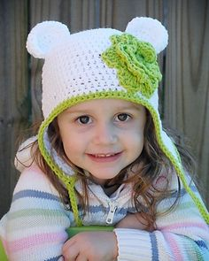 Bear Earflap Hat Crochet Pattern  Instant Download  (Permission to sell all  finished products) 4aacd4ec1de