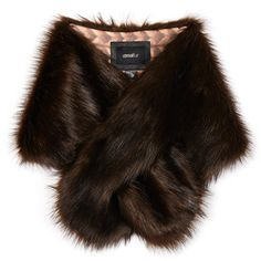 Unreal Fur Furocious Chocolate Faux Fur Scarf ($46) ❤ liked on Polyvore featuring accessories, scarves, outerwear, brown, brown shawl, faux fur scarves, unreal fur, fake fur scarves and brown faux fur shawl