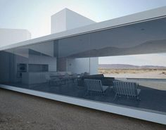 Four Eyes House - Coachella Valley - Modern - Exterior - Los Angeles - by Edward Ogosta Architecture Architecture Durable, Modern Residential Architecture, Plans Architecture, Minimalist Architecture, Sustainable Architecture, Interior Architecture, Coachella Valley, Modern Exterior, Modern Minimalist