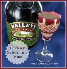 Homemade Bailey's Irish Cream - My Honeys Place