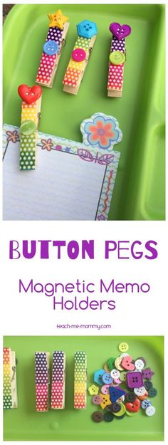 Button Pegs Memo Holders, great gift for teachers!