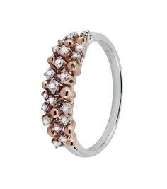 Anello in oro bianco, rosa e diamanti. #salvini