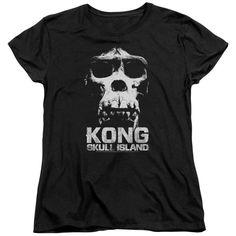 Kong Skull Island T-Shirt Black Skull