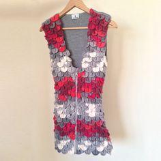 Multicolored Little Dress: Siren. Handmade