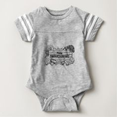 Thanksgiving Produce Vegetable and Fruits Sign Baby Bodysuit - thanksgiving day family holiday decor design idea