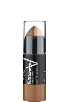 Maybelline Master Contour V-Shape Contouring Stick The new Master Contour V-Shape Contouring Stick (out in June 2016) is shaped in such a way that you can simply swipe it along your cheekbone with the dark side and then blend. Add a touch of the lighter shade by simply turning the stick over and applying it in the same direction.