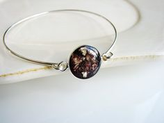 Purple Resin and Gold Flake Bracelet Resin Jewelry by KateeMarie